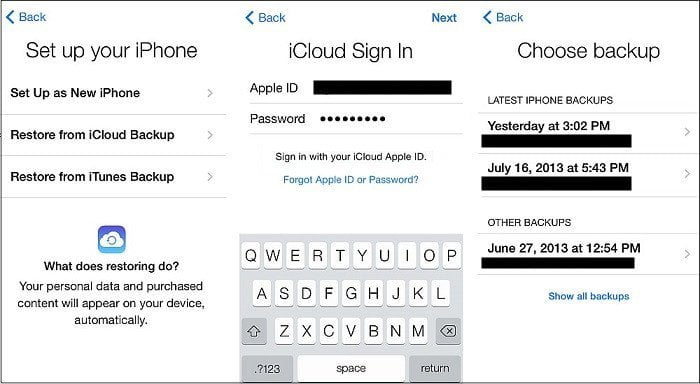 Restore Viber Messages fro iCloud Backup