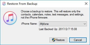 Restore iPhone to fix iPhone flashlight not working