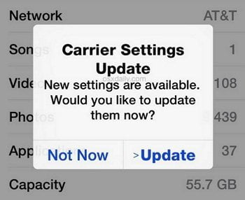 Update Carrier Settings to fix iPhone Group Messaging Not Working