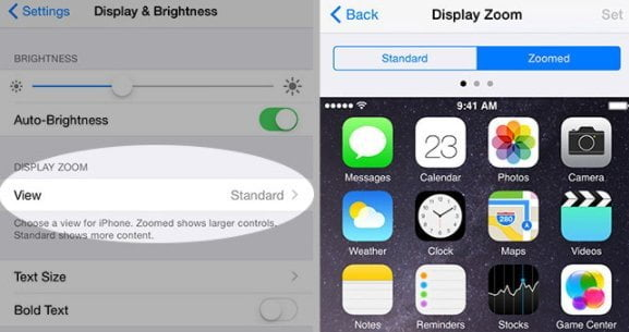 Fix iPhone Won't Rotate with Adjusting Display Zoom Factor