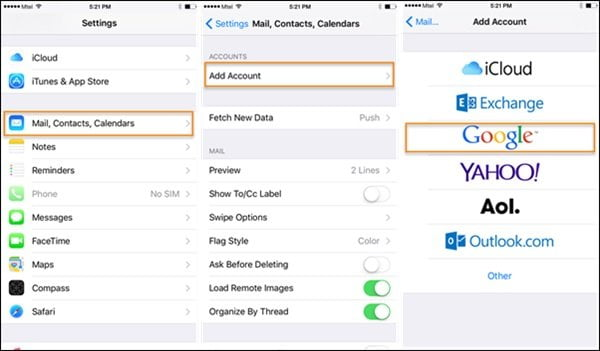 How to Import Contacts from Gmail to iPhone Using Google Account