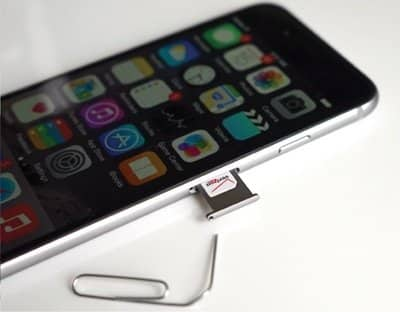 Remove and Insert SIM Card to fix iPhone keeps restarting