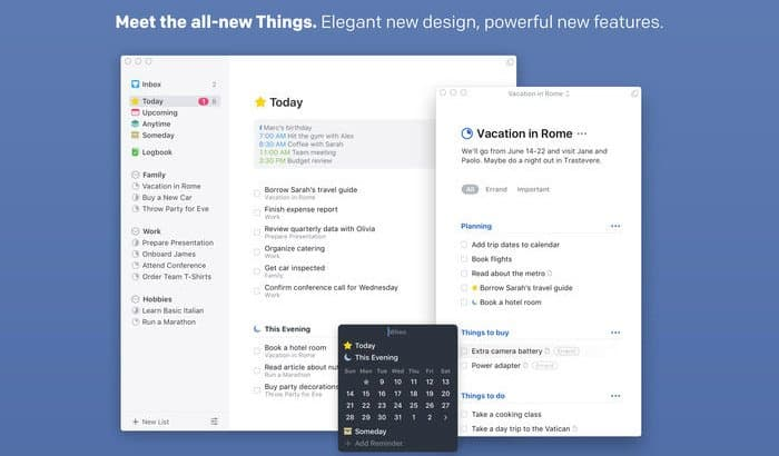Things task manager Mac