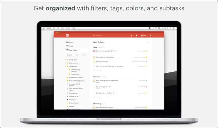 Todoist task manager Mac
