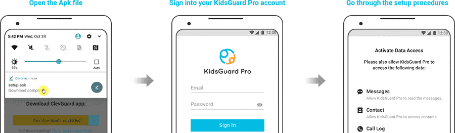 Install KidsGuard to figure out someones Instagram password