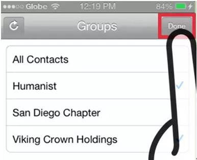 Delete Phone Contacts on iPhone