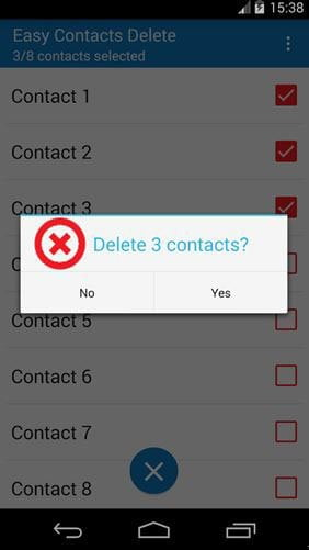 Delete Phone Contacts Using Easy Contacts Delete App