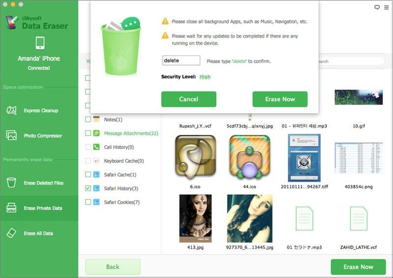 Delete Phone Contacts Using iSkysoft Data Eraser