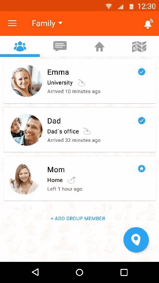 Familonet app to track phone without them knowing