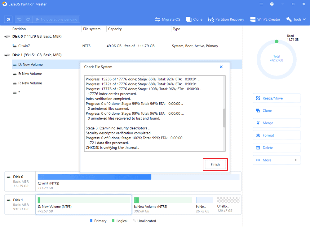 Use EaseUS Partition Master to fix WSAPPX high CPU