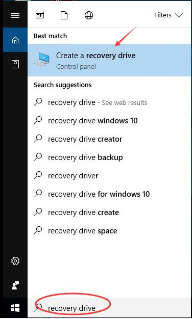 Use Recovery USB to resolve
