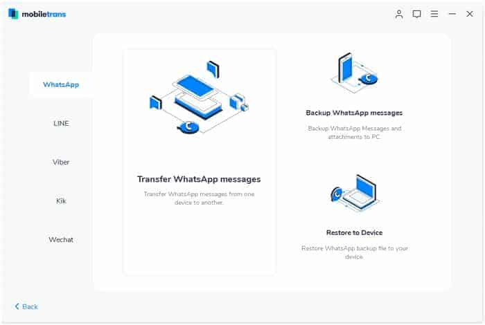 MobileTrans - WhatsApp Transfer