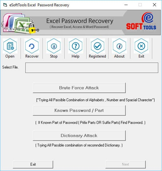 eSoftTools Excel Password Recovery