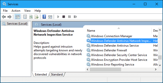 How to Check if NisSrv.exe is Running on System Services