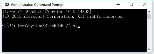 Chkdsk to fix the file or directory is corrupted and unreadable