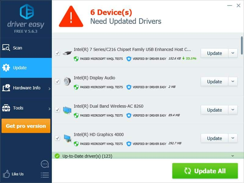 Fix NDIS.SYS failed Error wth Driver Easy