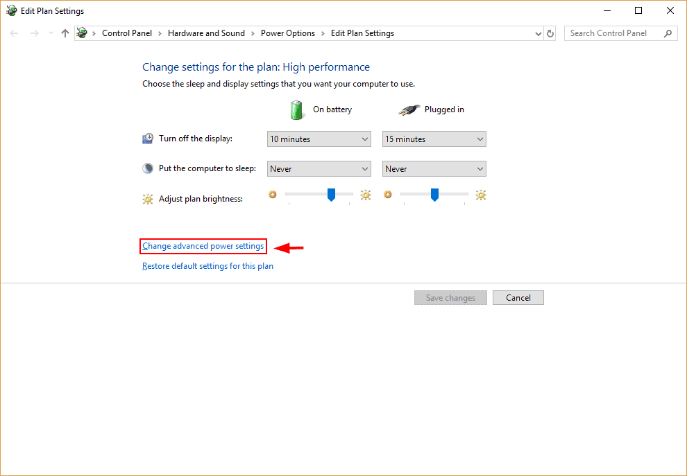 Change Power settings to fix windows 10 very slow and unresponsive