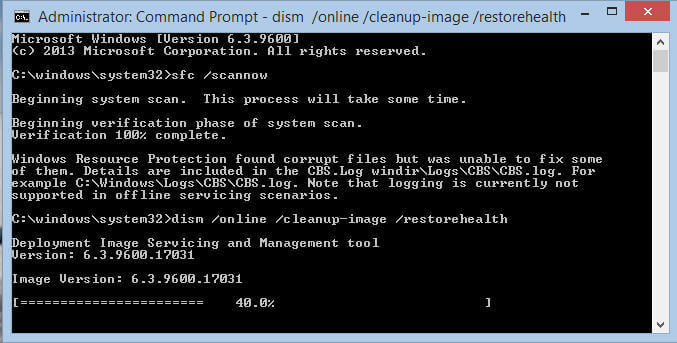 How to Fix Corrupted Files by Choosing Command Prompt on Windows 8,10