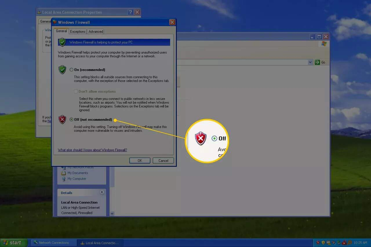 How to Turn Off Firewall on Windows XP