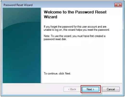 Crack With The Use of A Password Reset Disk