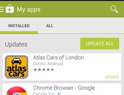 Update WhatsApp to solve whatsapp not working on Android