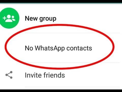 WhatsApp doesn't recognize your contacts