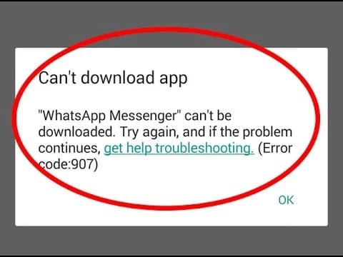 You cannot download WhatsApp on Android