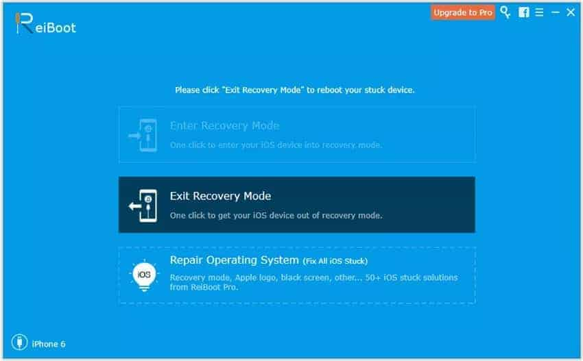 Exit Recovery Mode with Tenorshare ReiBoot