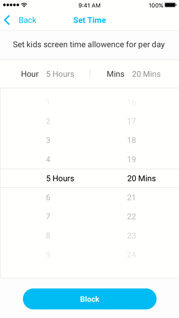 FamiSafe Screen Time feature