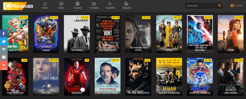 CMoviesHD Watch New Release Movies Online for Free Without Signing Up