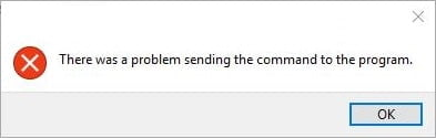 There was a problem sending the command to the program