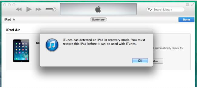unlock disabled iPad Using Recovery Mode