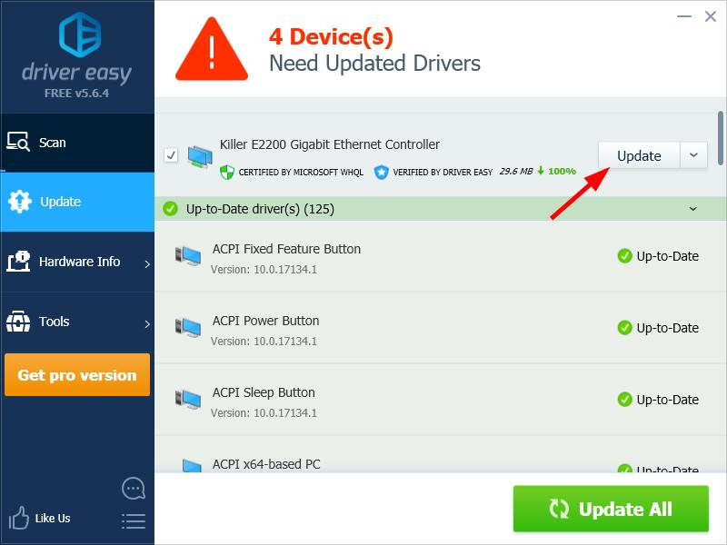Update Drivers Using Driver Easy to resolve Kmode_Exception_Not_Handled