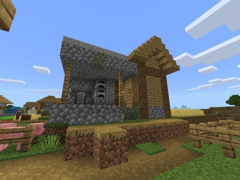 Find a saddle in the building of blacksmith