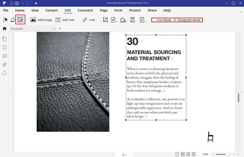 edit a PDF document with PDFelement