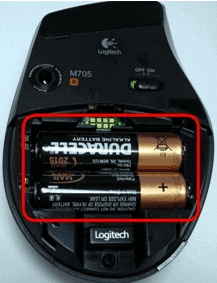 Try new batteries to fix Fix Logitech Wireless Mouse Not Working