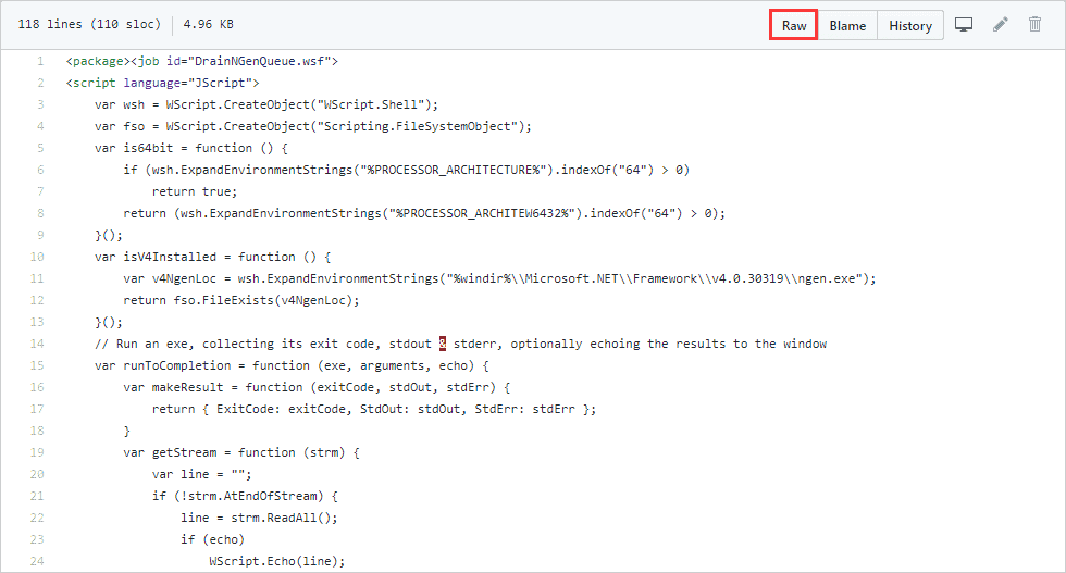 Use Microsoft's Official Script