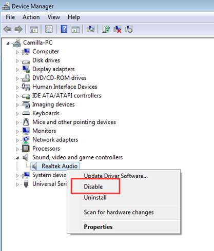 Disable your audio device and restart it if your laptop has no sound