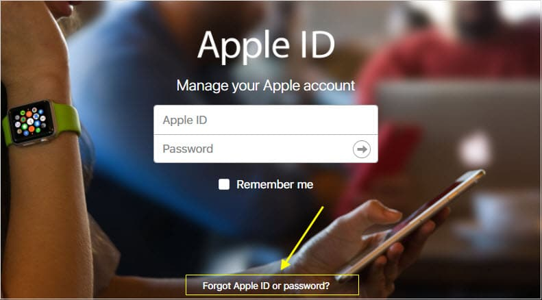 Forget Apple ID or Password
