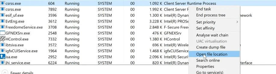 How to Check Whether Csrss.exe is Harmful or Not