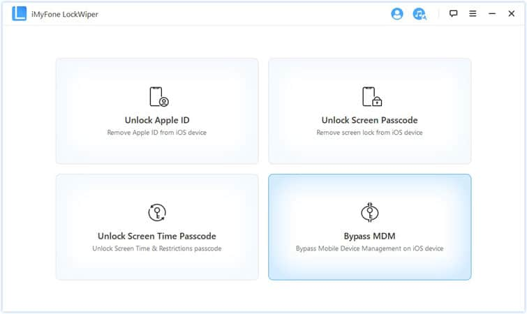 Bypass MDM activation via iMyFone LockWiper