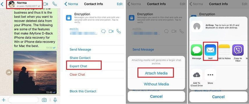 How to transfer WhatsApp to OnePlus from iPhone using email