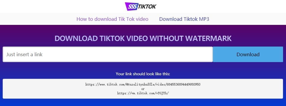 Download TikTok Videos using SSSTIKTOK
