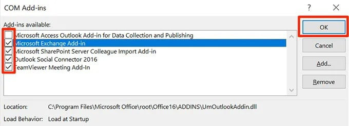 Repair Outlook Loading Profile Stuck on Safe mode