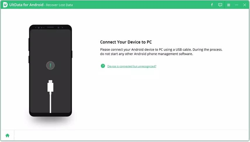 Dr.Fone Android Data Recovery alternative UltData for Android