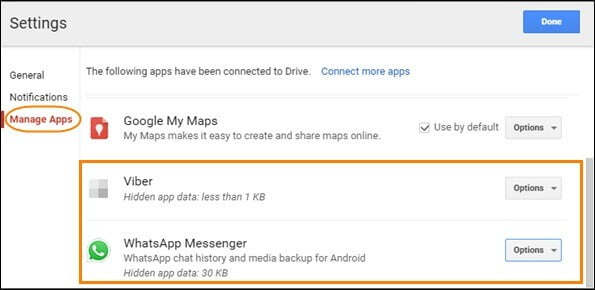 Delete the existing WhatsApp backup on Google Drive