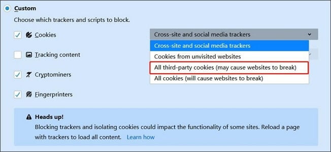 How to Stop Cross-Site Tracking on Mozilla Firefox