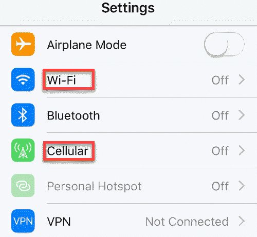 Troubleshoot network problems on iPhone