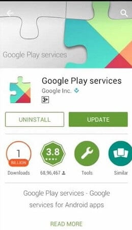 Update Google Play Services to fix WhatsApp Backup Stuck