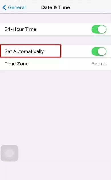Check if the date and time on the iPhone is correct